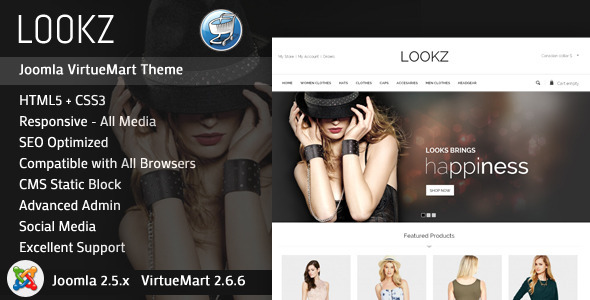 Looks - VirtueMart Parallax Template - VirtueMart Joomla
