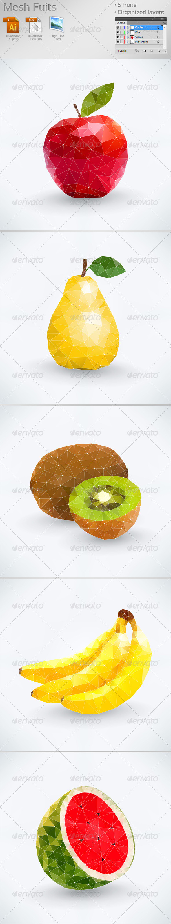 Mesh Fruits - Food Objects
