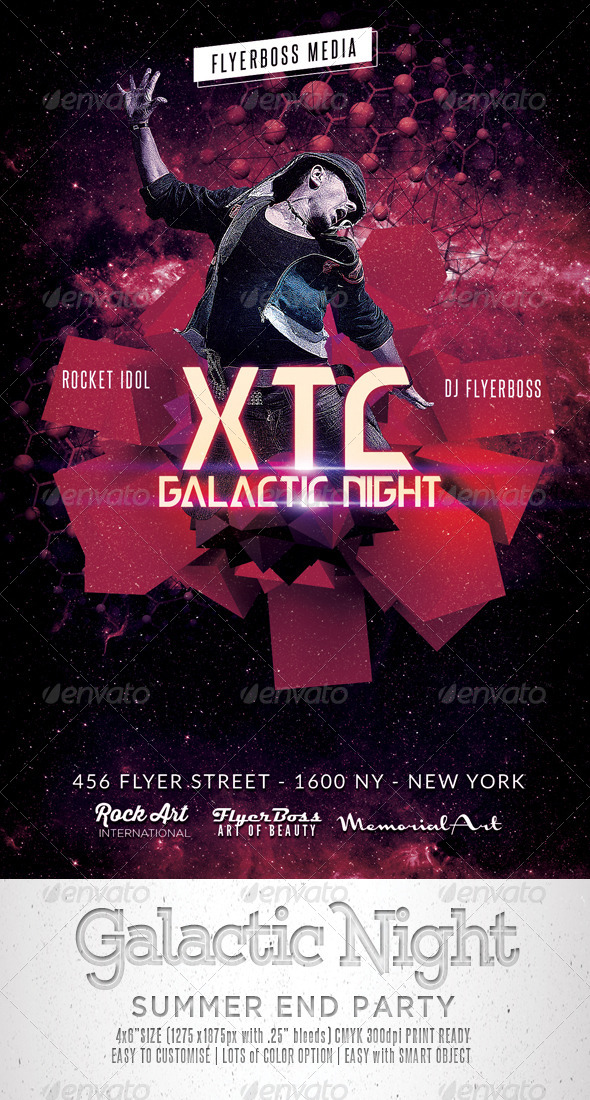Galactic Night Flyer - Events Flyers