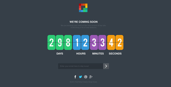 Pixp Countdown – Coming Soon Template