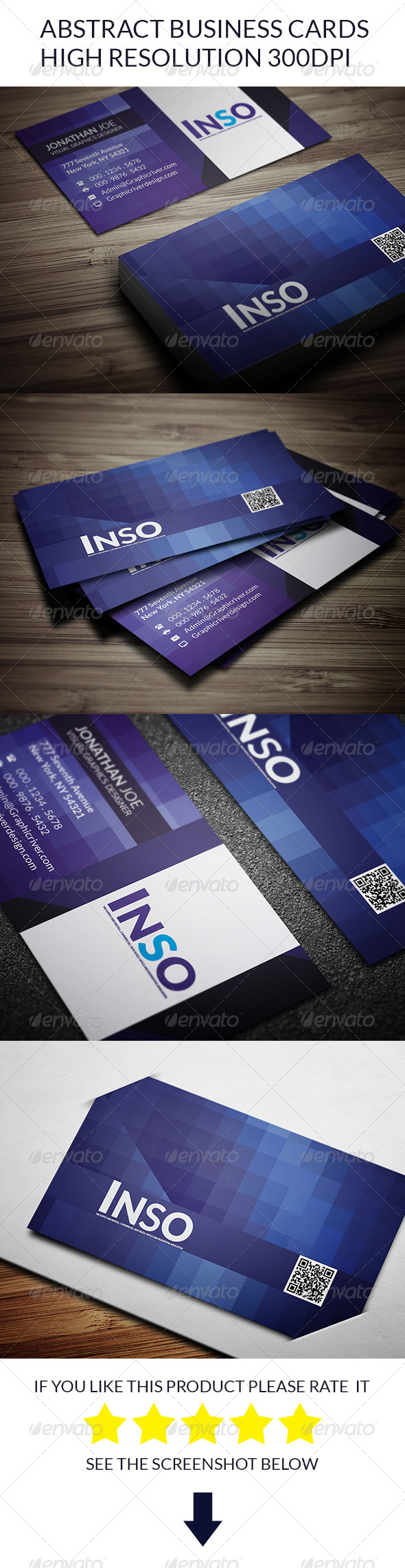 Abstract Business Cards - Creative Business Cards