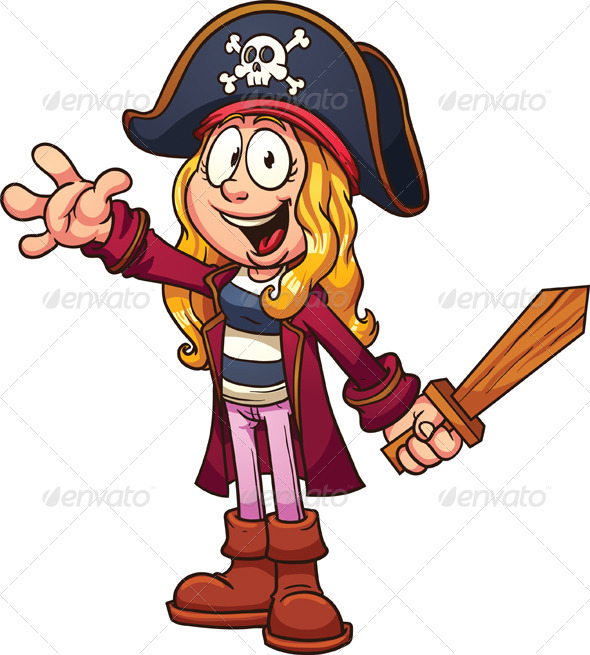 Girl Pirate Cartoon Characters
