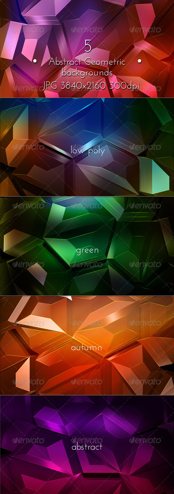 Geometric Abstract Low Poly