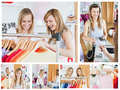 Collage of two good looking women doing shopping - PhotoDune Item for Sale