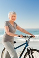 Senior woman with her bike - PhotoDune Item for Sale