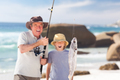 Man fishing with his grandson - PhotoDune Item for Sale