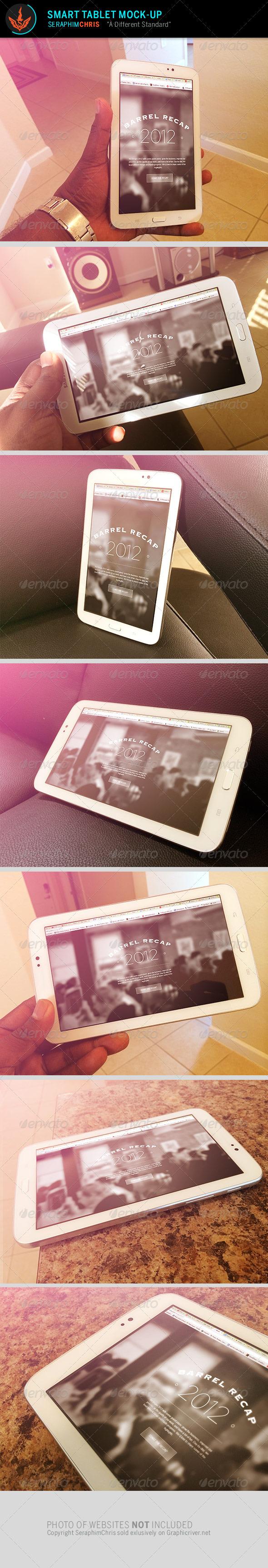 Smart Tablet Mock Up Template - Mobile Displays