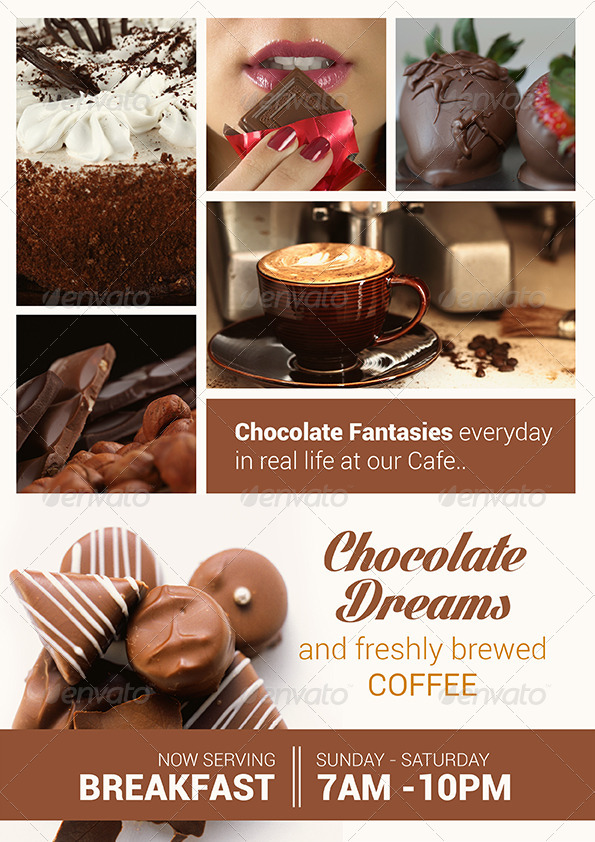 Breakfast And Chocolate Flyer Set By Dantaque GraphicRiver
