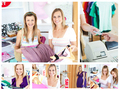 Collage of two attractive women doing shopping - PhotoDune Item for Sale