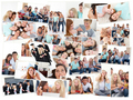 Collage of groups of young people having fun together - PhotoDune Item for Sale