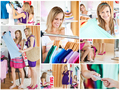 Collage of two beautiful women doing shopping - PhotoDune Item for Sale