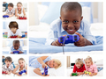 Collage of children playing video games - PhotoDune Item for Sale