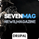 SevenMag - Blog/Magzine/Games/News Drupal Theme Nulled