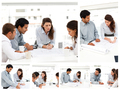 Collage of businesspeople working together - PhotoDune Item for Sale