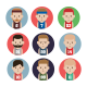 Set of Basketball Player Avatar Flat Icons - GraphicRiver Item for Sale