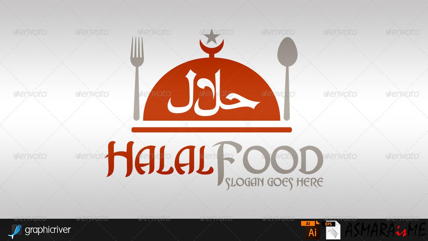 halal food logo by asmaraisme