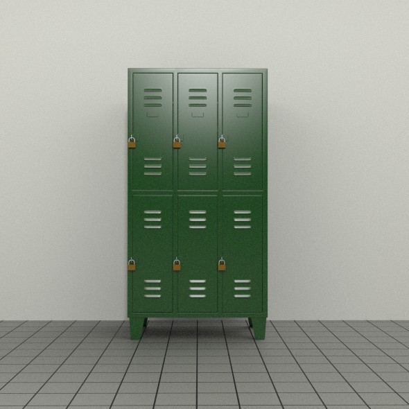 Double Tier Locker - 3DOcean Item for Sale