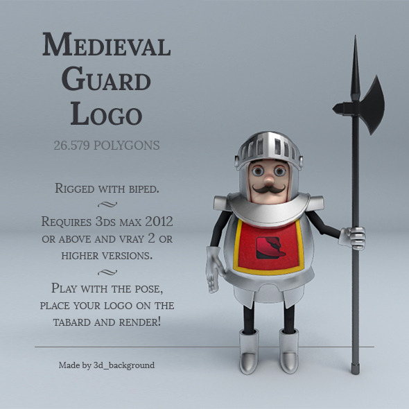 Medieval Guard Logo - 3DOcean Item for Sale