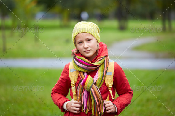 Schoolgirl - Stock Photo - Images