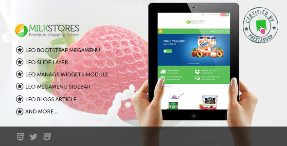 Leo Milk Prestashop Theme - Health & Beauty PrestaShop