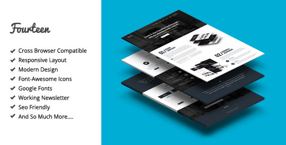 Fourteen - Responsive Landing Page Template - Corporate Landing Pages