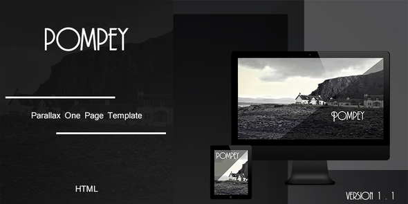Pompey - Parallax One Page HTML Template - Portfolio Creative