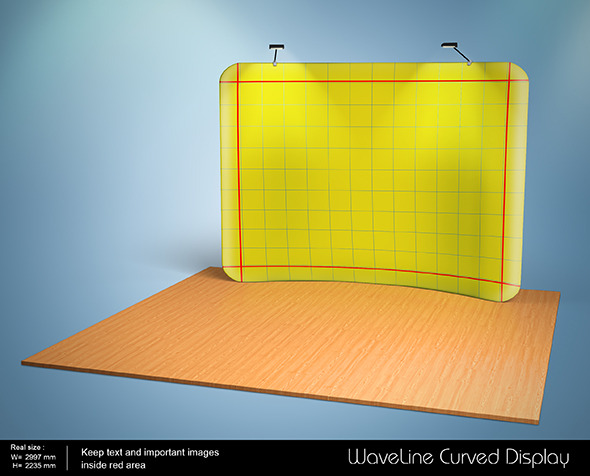3D Waveline Curved Display - 3DOcean Item for Sale