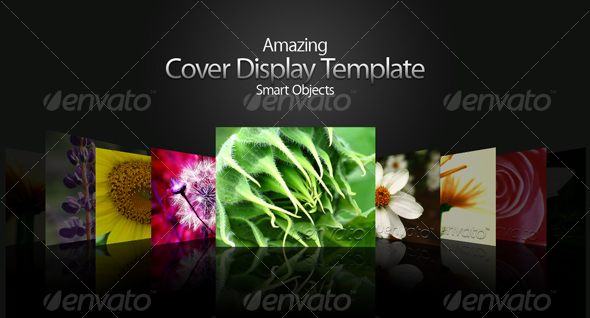 Cover Display Template - Miscellaneous Print Templates