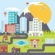 Urban Landscape City Real Estate Mountain Forest - GraphicRiver Item for Sale