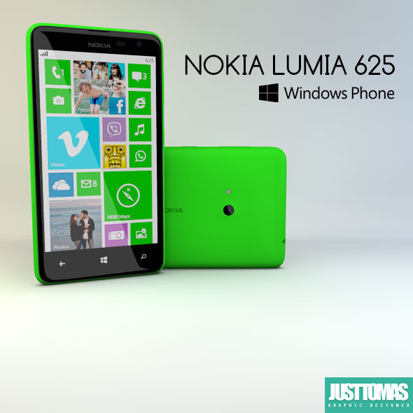 Nokia Lumia 625 - 3DOcean Item for Sale