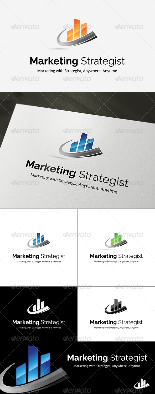 Marketing Strategist Logo Template - Symbols Logo Templates