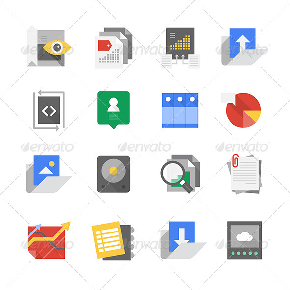 Web Development and Content Technology Icons - Technology Icons