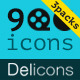 Delicons - 900 Vector Icons - GraphicRiver Item for Sale