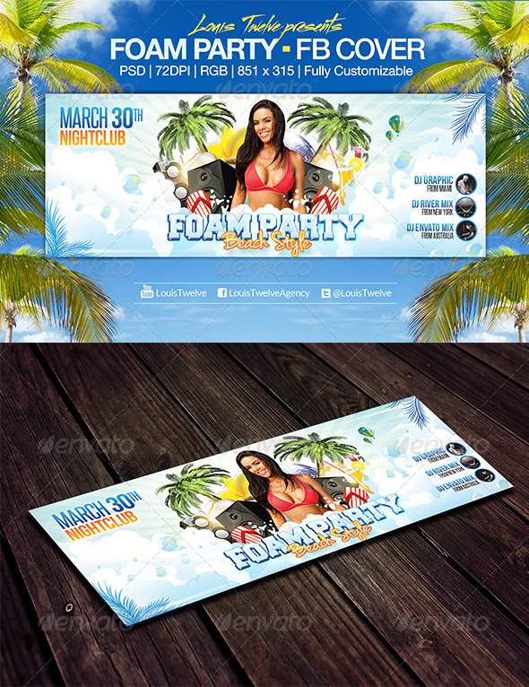 Foam Party | Facebook Cover - Facebook Timeline Covers Social Media