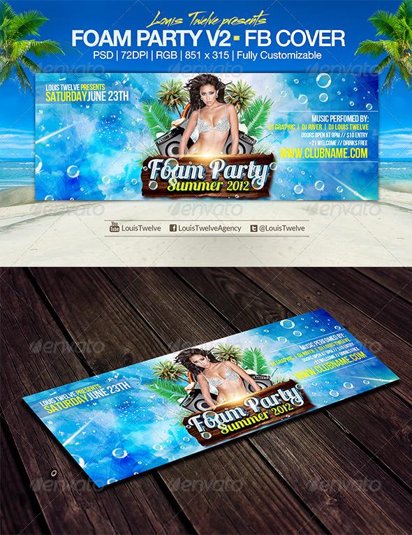 Foam Party v2 | Facebook Cover - Facebook Timeline Covers Social Media