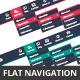 Flat Navigation Bars