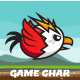 Flappy Red Eagle Game Character Sprite Sheets - GraphicRiver Item for Sale