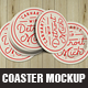 Coaster Mock Up Template
