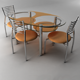 Table with chair 6 - 3DOcean Item for Sale