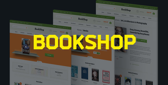 Bookshop | PSD Template - Retail PSD Templates