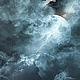 Abstract Dark Night Thunder Clouds with Lightning Strikes and Moon - VideoHive Item for Sale