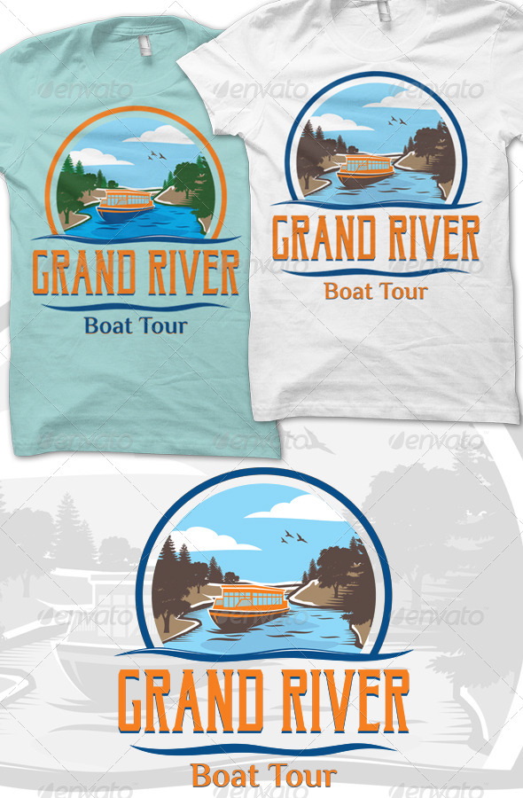 Grand River T-Shirt Graphic