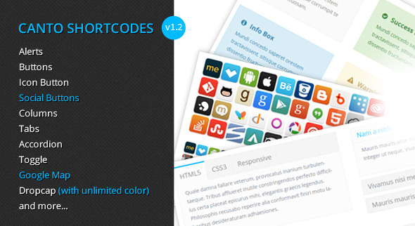 Canto Shortcodes - Premium shortcodes plugin - CodeCanyon Item for Sale