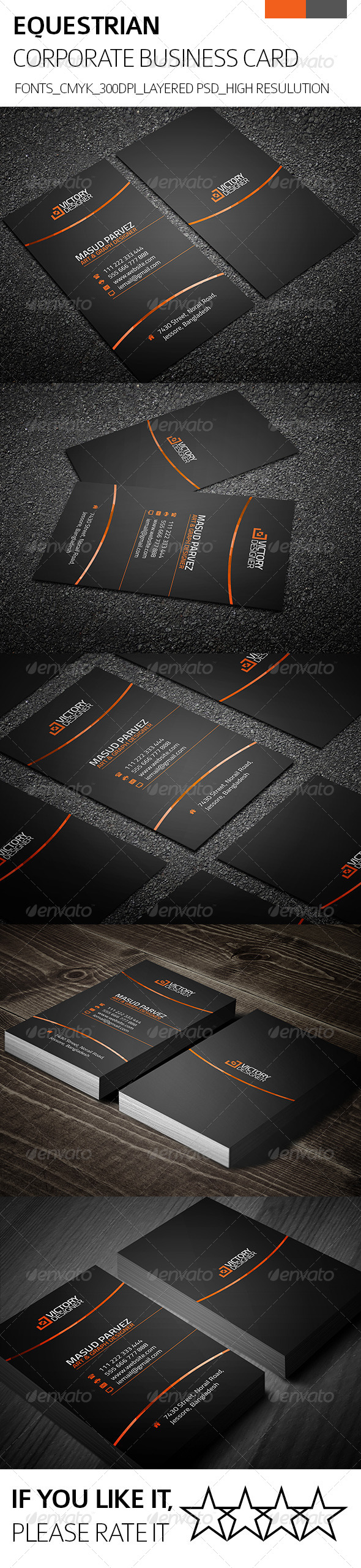 Equestrian & Corporate Business Card - Corporate Business Cards