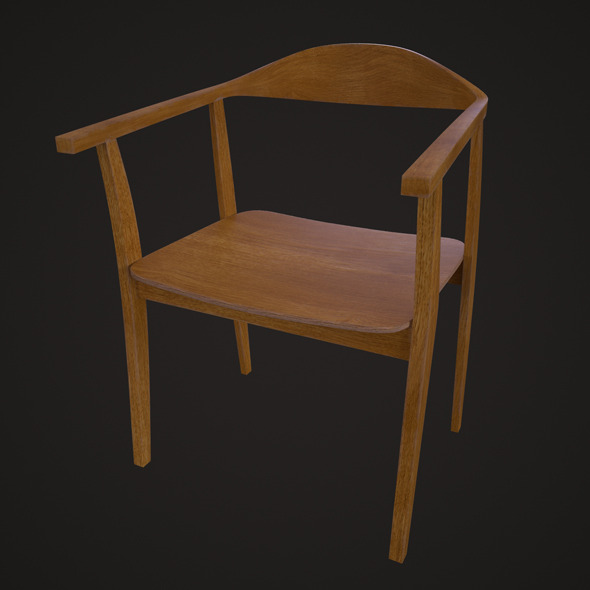 IKEA Stockholm Chair - Oak - 3DOcean Item for Sale