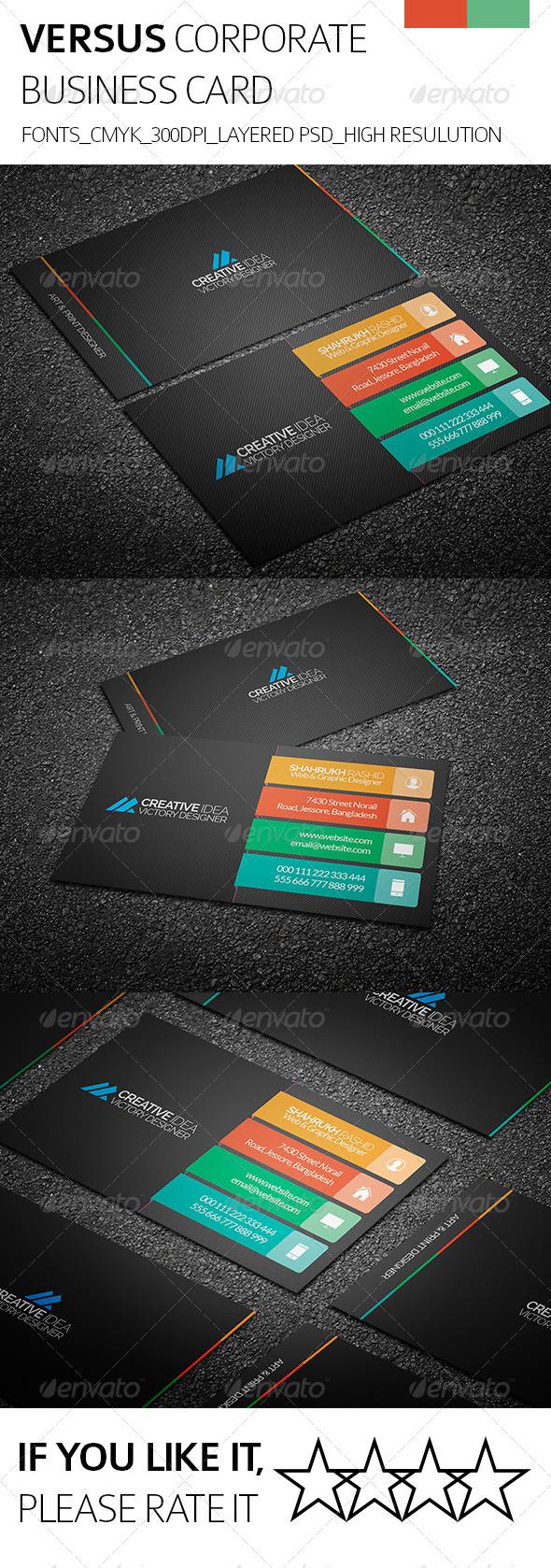 Versus & Corporate Business Card - Corporate Business Cards