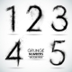 Vector Set Grunge Numbers - Part 1 - GraphicRiver Item for Sale