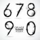 Vector Set Grunge Number - Part 2 - GraphicRiver Item for Sale