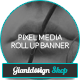 Pixel Media - Photography Outdoor Banner Signage - GraphicRiver Item for Sale