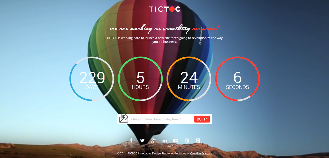 TICTOC - Coming Soon Countdown Template by creative_era | ThemeForest